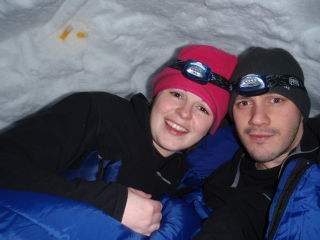 Ian and I in our igloo